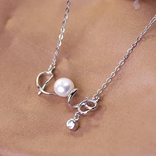 Aoligei 925 Sterling silber Set Kette Liebe Perle Halskette Big Star Silber Halskette Schmuck Europa und Amerika