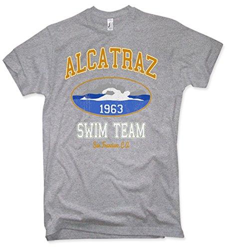 Alcatraz Swim Team T-Shirt Funshirt Vintage Verschiedene Farben Gr. S – 5XL (Lustige Schwimmer Tshirt)
