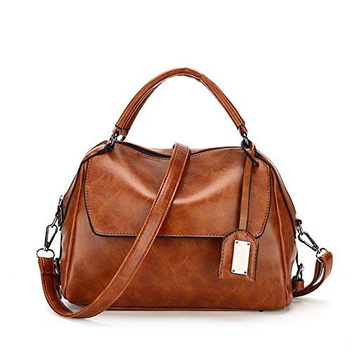 Fashion Tote (Sunwel Fashion Outdoor Top Griff Taschen Schultertasche Bag Tote Geldbörse Umhängetasche für Frauen Braun)
