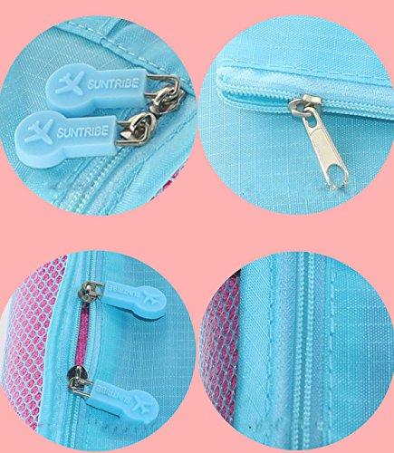 YK ropa bolsa de almacenamiento impermeable bolsa de almacenamiento Set de viaje hombres y mujeres casual bolsa de seis piezas juego de equipaje bolsa de viaje azul azul 37*27*12cm