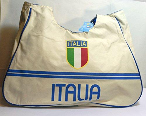 Sac de plage sport ou national Italie Blanc 39 x 46 cm