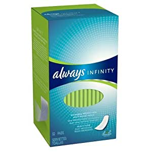 Always Infinity Heavy Flow Pads Without Wings, 32 Count (Pack of 2) by Always (English Manual)