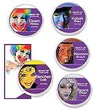 KarnevalsTeufel Theaterschminke MAKE UP Klassik, verschiedene Farben (Bienen Gelb)
