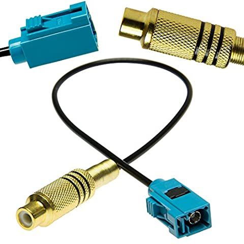 Adapter-Universe RCA Cinch Fakra Adapter Kabel Video Rückfahrkamera für Mercedes Comand PCM 2.1 / PCM 3.0 / NTG2.5 / NTG4 & Ford Blaupunkt