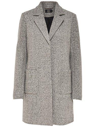 ONLY Damen Woll-Mantel onlStone Wool Coat 15156581, Größe:XL, Farbe:Grau