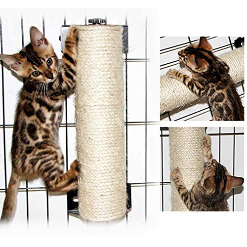 Womdee Cat Scratching Post, Cat Wall Mounted Scratching Pole, 13,77/15,7 Zoll Hängende Natural Sisal Cat Paw Kratschende Matte, Schutz Tür Wall Ecke mit Wand-Festigungen