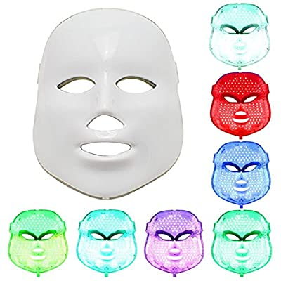 PEPECARE LED Photon Therapy 7 Color Light Treatment Facial Skin Care Phototherapy Mask from PEPECARE