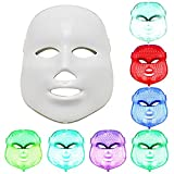 PEPECARE LED Photon Therapy 7 Color Light Treatment Facial Skin Care Phototherapy Mask