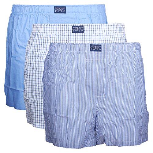 Polo Ralph Lauren Herren Boxershorts, 3er Pack (XXL, Mehrfarbig (3Pk White / Blue / Navy))