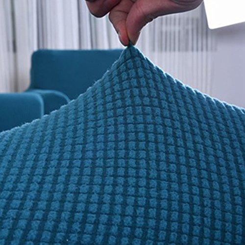 MAXWOW Funda de sofá Elástica para los Animales domésticos, Antideslizante Acolchado 1-Pieza Poliéster Spandex Todo Incluido Cubierta del sofá Sala de Estar -Azul Asientos de Amor