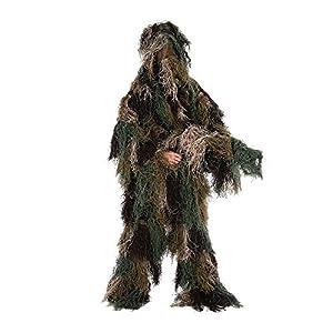 Lixada Camouflage Chasse Ghillie suite Costume de chasse Suit Ensemble Veste Pantalon Tenue de camouflage pour Jeux de chasse