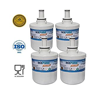 4 Pack Samsung AquaPure DA2900003G Plus Compatible Water Filter Refrigerator RFC1100A