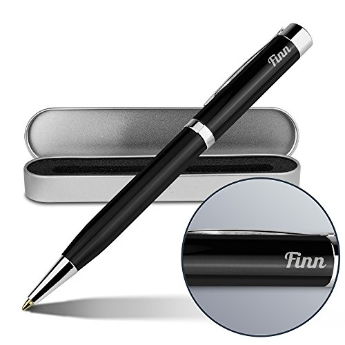 Kugelschreiber mit Namen Finn - Gravierter Metall-Kugelschreiber von Ritter inkl. Metall-Geschenkdose