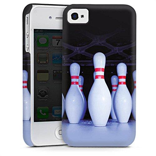 Apple iPhone 5s Housse Étui Protection Coque Bowling Pins Strike Cas Premium mat