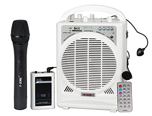 5 core Portable Rechargeable Bluetooth Amplifier with Remote Control (Black, 5C-WPA-116-BDH-2)