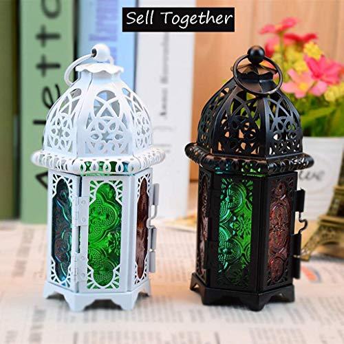 Oudan Halloween Party Europäischen Retro Kerzenständer Tischlampe Wind Lampe Hängelampe Festival Kreative Dekoration Hohl Handwerk (Farbe : -, Größe : -)