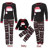 Weihnachten Set Baby Kleidung Pullover Pyjama Outfits Set Familie Infant Baby Jungen Mädchen Weihnachten Brief Plaid Strampler Hosen Hut Kleidung Set ABsoar Familienanzug Pyjamas