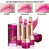 CINEEN Professionell Farbwechsel Lippenstift Jelly Lipstick Moisturizing Kristallgelee Lang anhaltende Lipgloss, 3er Pack