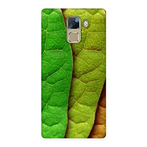 Delighted Pattern Leaf Back Case Cover for Huawei Honor 7