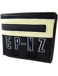 "Eden Park [N9763] - Portefeuille italien sport ""Eden Park"" noir beige - 12x9x2. 5 cm"