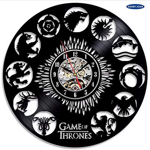 Reloj de Pared Juego de Tronos, Tema Vinilo Reloj de Pared Exclusivo de,Reloj Despertador Reloj