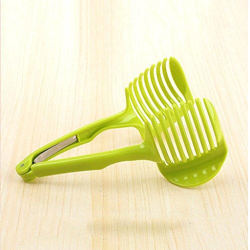 MagiDeal Küche Obst Slicer Gemüse Tomate Clip Halter Zitrone Kartoffel Schneid Messerhalter Werkzeug - 3