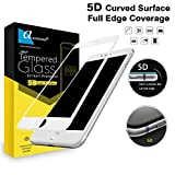 Ascension ® for Apple iPhone 6 / iPhone 6S Premium Series Matte 5D Tempered Gorilla Glass Screen Protector High Premium Quality 9H Hard 5D Ultra Clear (White) (Set of 1)