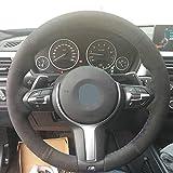 Coprivolante per Auto, Nero Coprivolante per Auto in Pelle Scamosciata per BMW F87 M2 F80 M3 F82 M4 M5 F12 F13 F6 M F85 X5 M F86 X6 M F33 F30 M Sport (Color : D -Type version)