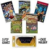 PSP Mega 5 Game Bundle mit UMD Case Holder