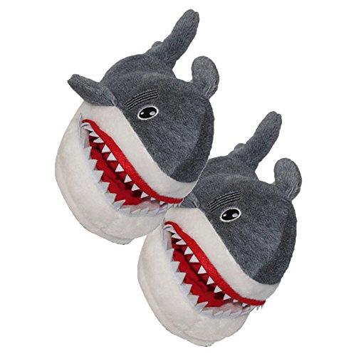 AIZHE  Shark Slippers,  Jungen Mädchen Damen Flache Hausschuhe hai