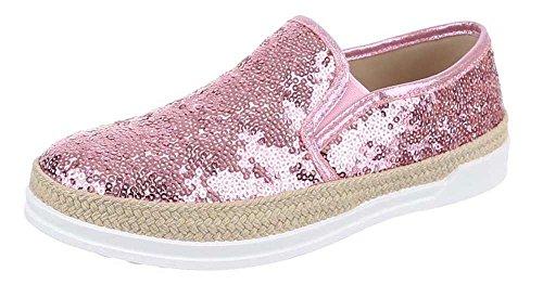 Damen-Schuhe Slipper | stilvolle Halbschuhe in verschiedenen Farben und Größen | Schuhcity24 | Stiefel Stiefeletten | Espadrilles mit Strass Rosa