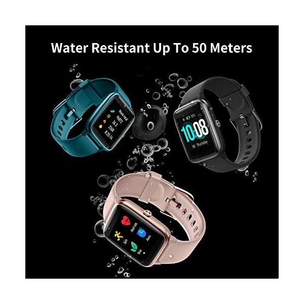 Smart Watch Bluetooth 5.0 Reloj Inteligente Impermeable IP68 Actividad GPS Sueño Pulsómetros Podómetro Caloría Deporte Fitness Música Control Despertador Pantalla Táctil Completa para Android iPhone 3