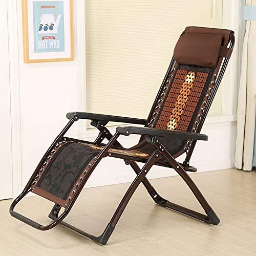 FEE-ZC Klappbarer Deckchair FüR Die Mittagspause Liegestuhl Aus Bambus Alter Mann Sonnenliege Schaukelstuhl RüCkenlehne FüR Erwachsene Cooler Stuhl Gartenstuhl - Bambus-stuhl-abdeckung
