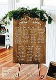 Gale66Lucy Rustikale Sitztafel, Sitztafel, Hochzeit, Sitzplan, Tisch, Sitztafel, große Holzschilder Finden Sie Ihren Sitzschild, Ws94