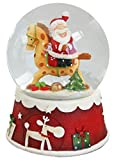 Schneekugel Weihnachten - Nikolaus mit Pferd