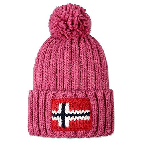 Napapijri Semiury N0Y82G cappello unisex berretto in lana pon pon (Unica, Bloom)