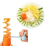 Spiral Slicer Cutting Models, Indexp Kitchen Vegetable Fruit Potato Carrot Cutter Artistic Cooking Tools (Random Colour)