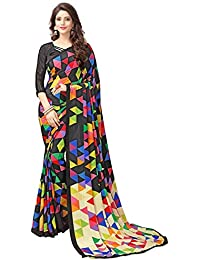 [Sponsored]TAGLINE Silk Saree With Blouse Piece (Tag11035_Black_Free Size)