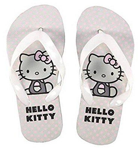 Hello Kitty Flip Flops 8084 Badelatschen Zehentrenner weiss/rosa
