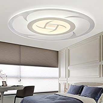 Atmosphre Restaurant Warme Runde Schlafzimmer Lampe Ultra Thin 400Mm Durchmesser Regelmssige 26 W Besonderer Preis Amazonde Beleuchtung