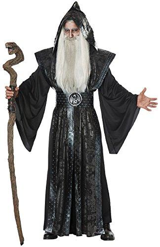 California Costumes Herren Dark Wizard Adult Man Costume Kostüme für Erwachsene, schwarz, Small/Medium
