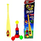 Toyshine Pop Up & Strike Cricket Set - Can Be Played At Garden, Beach Or Park