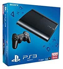 Sony Playstation 3 Super Slim Console 500GB with Wireless Dualshock 3 Controller