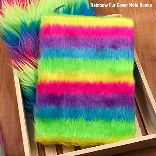 Attractive Paper Rainbow Feather Diary Notebook