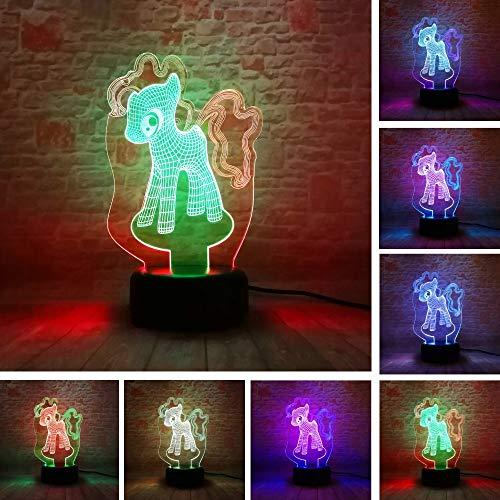 Kreative Weihnachtsgeschenke My Little Pony Glücklicher Freund Figuren Mixed-Double-Color 7 Farbverlauf Flash Kind Baby Cafe Mall Deco