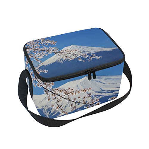 SKYDA Insulated Lunchpaket Box Mount Fuji Lunchpaket Bag for Men Women, Portable Tote Bag Cooler Bag for Work/School/Picnic Fuji Box