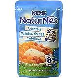 Nestlé Bébé Naturnes Carottes/Patates Douces/Cabillaud Plat Complet dès 8 Mois Sachet de 190 g