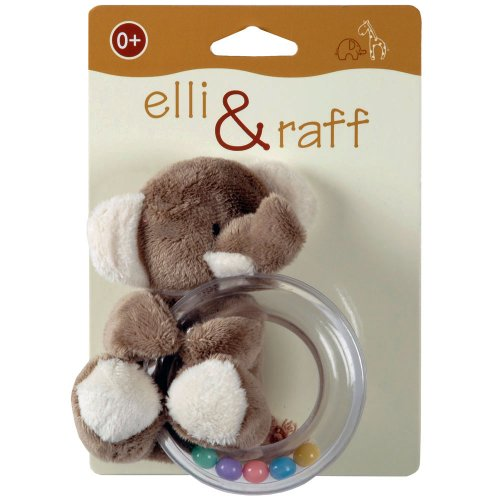 Beamfeature Elli amp; Raff Soft Baby Rattle - Teether Toy - Elephant Design