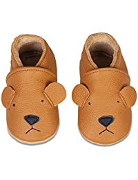 Baby Shoes Soft Leather Baby Boys First Walking Shoes Girls Toddler Shoes Suede Soles 0-6 Months to 18-24 Months Infant