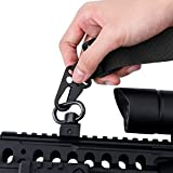 BOOSTEADY QD Sling Swivel Mount with Push Button, QD Sling Attachment for Picatinny/Weaver Mounting Base Rail